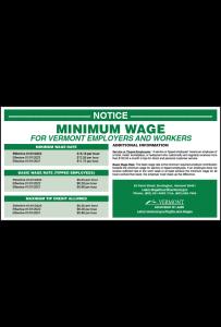 Vermont 2019 Minimum Wage Peel 'N Post