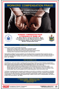 Maine Workers' Compensation Fraud Poster