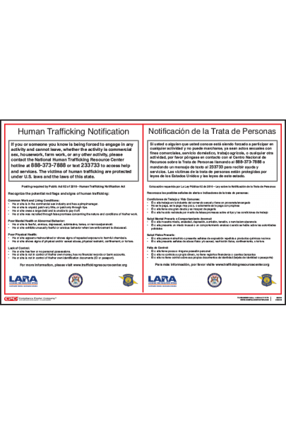 Michigan Human Trafficking Poster