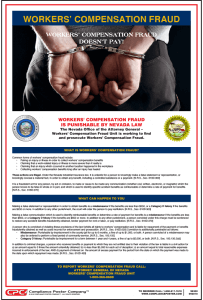 Nevada Workers' Compensation Fraud Poster
