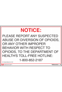 Tennessee Opioid Reporting Poster