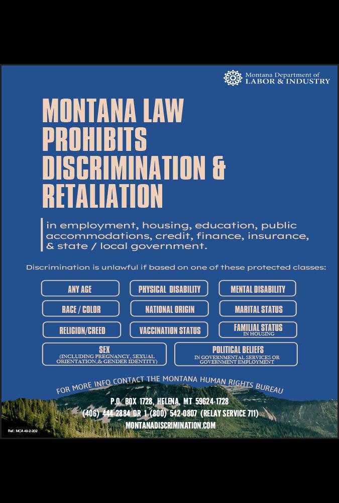 2019 Montana Discrimination