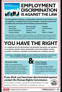 San Francisco, CA Employment Discrimination Poster