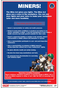 Federal Miner's Rights Poster