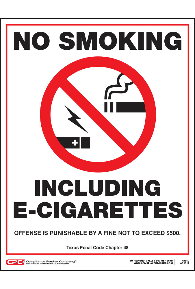 Texas No Smoking Poster