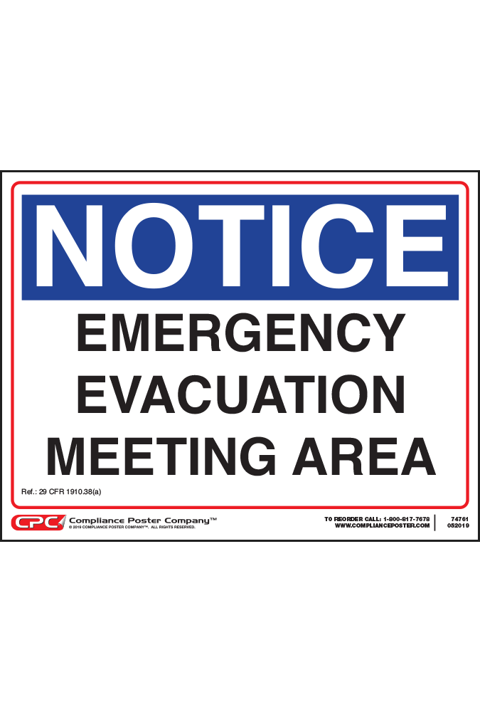 Federal Emergency Evacuation Area Poster