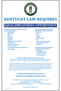 Kentucky Equal Employment Opportunity Posting