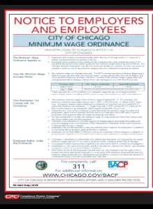 2019 Chicago Minimum Wage Notice