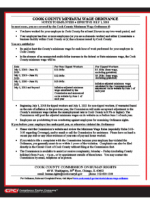 2019 Cook County Minimum Wage Notice