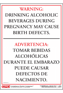 Arkansas Drinking Alcohol During Pregnancy Warning Sign