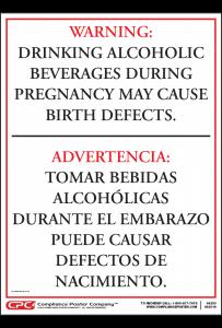 Arkansas Drinking Alcohol During Pregnancy Warning Sign
