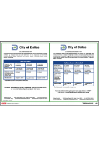 Dallas, Texas Paid Sick Leave Poster