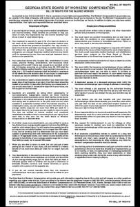 Georgia Workers' Comp Bill of Rights Peel 'N Post