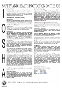 Indiana Safety and Health Protection on the Job Poster Peel 'N Post English