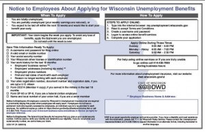 2019 Wisconsin Unemployment Insurance Peel 'N Post