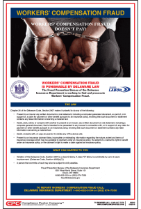 Delaware Workers' Compensation Fraud Poster