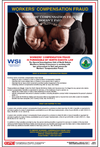 North Dakota Workers' Compensation Fraud Poster