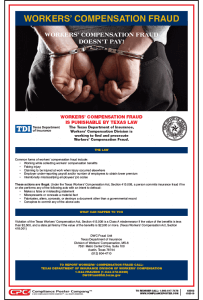 Texas Workers' Compensation Fraud Poster