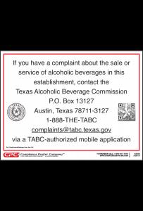 Texas Complaint Poster