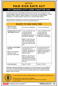 Pittsburgh Paid Sick Time Poster