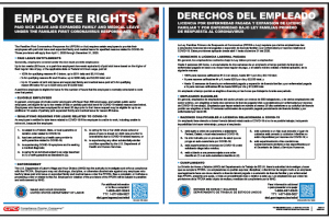 Families First Coronavirus Response Act Poster - Private employer bilingual