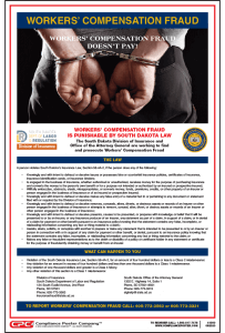 South Dakota Workers' Compensation Fraud Poster