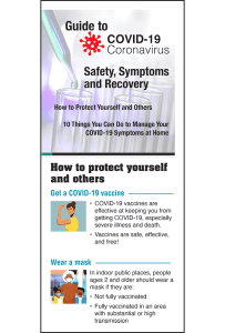 Guide to COVID-19 Safety, Symptoms and Recovery Pamphlet - English
