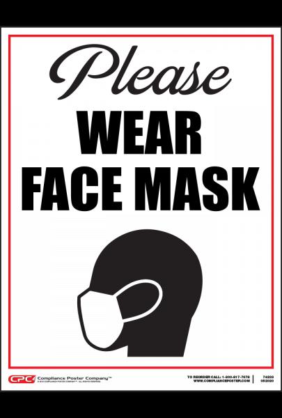COVID-19 Please Wear Face Mask