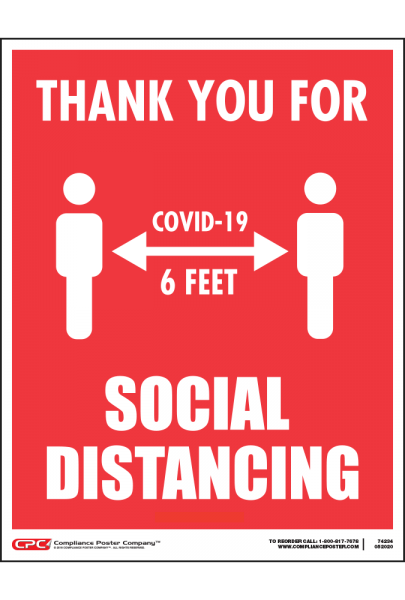 COVID-19 Social Distancing Window Cling