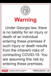 Georgia COVID-19 Immunity Notice