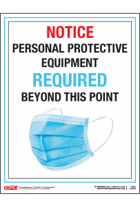 Personal Protective Equipment Notice