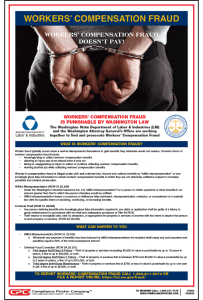 Washington State Workers' Compensation Fraud Poster