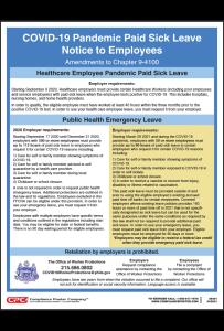 Philadelphia COVID-19 Paid Sick Leave Notice