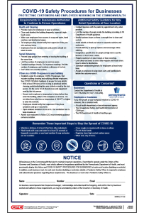 Pennsylvania COVID-19 Safety Procedures for Businesses