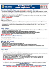 2021 Your Rights Under Illinois Employment Laws