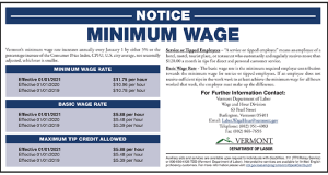 2021 VT Minimum Wage Peel 'N Post